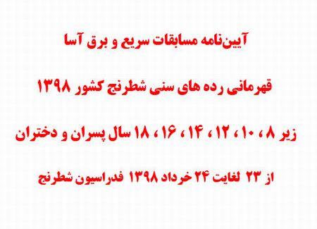 مسابقات رپید قهرمانی کشور رده سنی