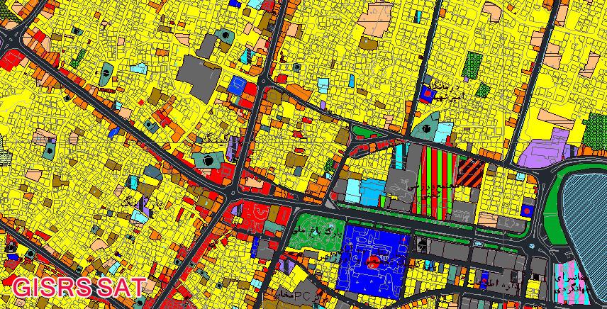 Image result for دانلود فایل نقشه اتوکد کامل شهر کرج: