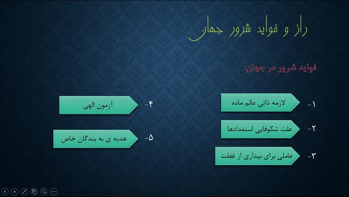 پاورپوینت اندیشه اسلامی 1- مسئله شر و انواع شر