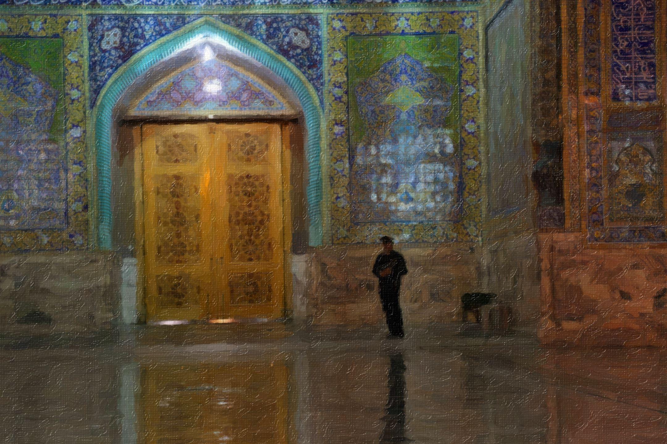 عکس نقاشی پاستلی از حرم