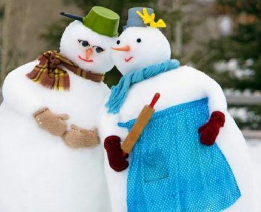 آدم برفی عاشق