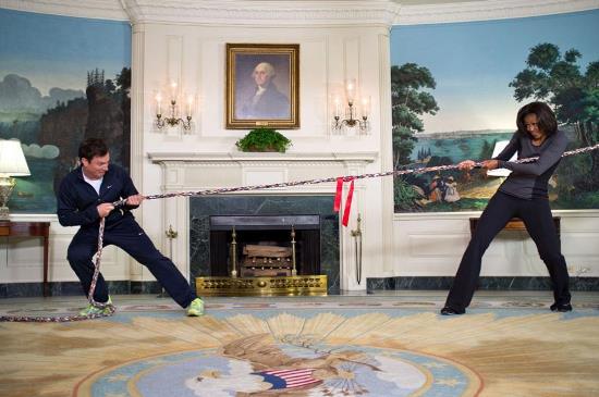 میشل اوباما ، همسر باراک اوباما ، جیمی فالون